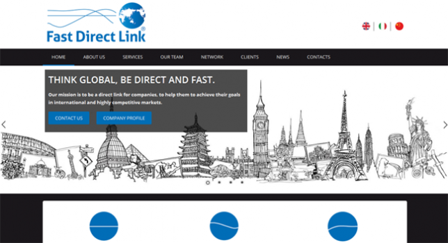 Home Page del sito Fast Direct Link