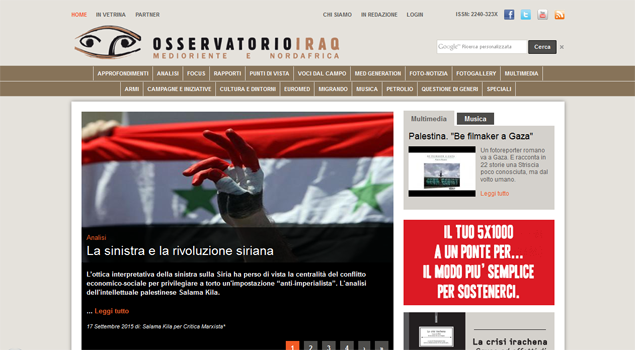 Home page Osservatorio Iraq